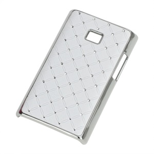 Baby-Breath Diamond Plating Hard Back Case for LG Optimus L3 E400 - White
