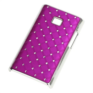 Baby-Breath Diamond Plating Hard Back Case for LG Optimus L3 E400 - Rose