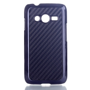 Black Carbon Fibre Leather Coated Hard Case for Samsung Galaxy Ace NXT SM-G313H