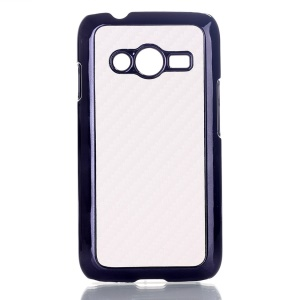 White Carbon Fibre Leather Coated Hard Plastic Case for Samsung Galaxy Ace NXT SM-G313H