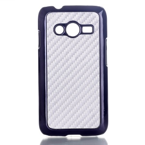 Silver Carbon Fibre Leather Coated Hard Shell Case for Samsung Galaxy Ace NXT SM-G313H