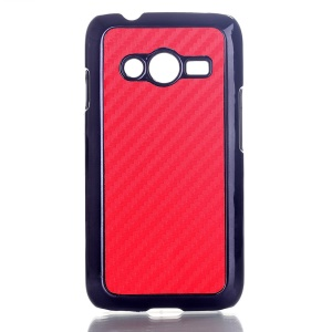Red Carbon Fibre Leather Coated Hard Shell for Samsung Galaxy Ace NXT SM-G313H