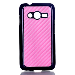 Pink Carbon Fibre Leather Coated Hard Case Shell for Samsung Galaxy Ace NXT SM-G313H