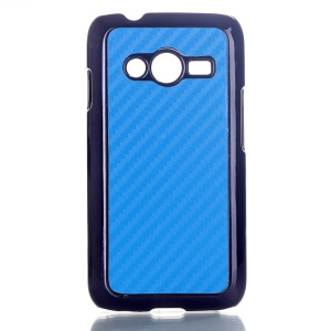 Blue Carbon Fibre Leather Coated Hard Cover for Samsung Galaxy Ace NXT SM-G313H