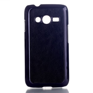 Black Crazy Horse Leather Coated Hard Case for Samsung Galaxy Ace NXT SM-G313H