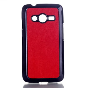 Red Crazy Horse Leather Coated Hard Plastic Case for Samsung Galaxy Ace NXT SM-G313H