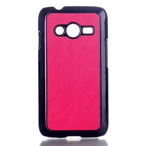 Rose Crazy Horse Leather Coated Hard Case Shell for Samsung Galaxy Ace NXT SM-G313H
