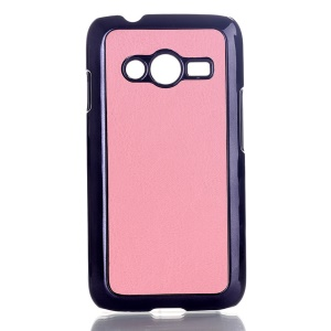 Pink Crazy Horse Leather Coated Hard Shell for Samsung Galaxy Ace NXT SM-G313H