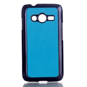 Blue Crazy Horse Leather Coated Hard Shell Cover for Samsung Galaxy Ace NXT SM-G313H