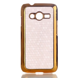 White Football Grain Leather Coated Hard Plastic Case for Samsung Galaxy Ace NXT SM-G313H