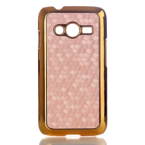 Champagne Football Grain Leather Coated Hard Shell for Samsung Galaxy Ace NXT SM-G313H