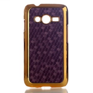 Purple Football Grain Leather Coated Hard Case Cover for Samsung Galaxy Ace NXT SM-G313H