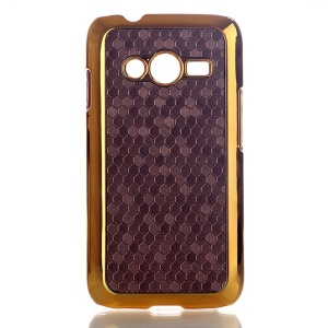 Brown Football Grain Leather Coated Hard Cover for Samsung Galaxy Ace NXT SM-G313H