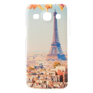 Embossed Paris Eiffel Tower PC Back Case for Samsung Galaxy Core Plus G3500 / Trend 3 G3502