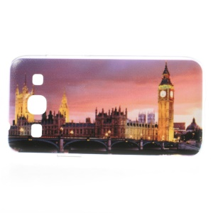 Embossed London Big Ben PC Back Case for Samsung Galaxy Core Plus G3500 / Trend 3 G3502