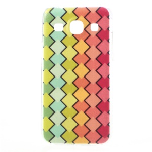 Embossed Colorful Rhombus Pattern Hard Case for Samsung Galaxy Core Plus G3500 / Trend 3 G3502