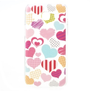 Sweet Hearts Embossed Design Hard Cover for Samsung Galaxy Core Plus G3500 / Trend 3 G3502