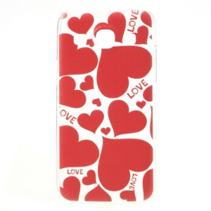 LOVE Red Hearts Relief Hard Cover for Samsung Galaxy Core Plus G3500 / Trend 3 G3502
