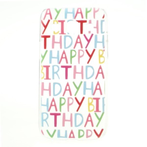 Embossed Happy Birthday English Words Hard Shell for Samsung Galaxy Core Plus G3500 / Trend 3 G3502