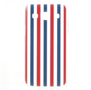Embossed Blue & Red Vertical Stripes Hard Shell for Samsung Galaxy Core Plus G3500 / Trend 3 G3502