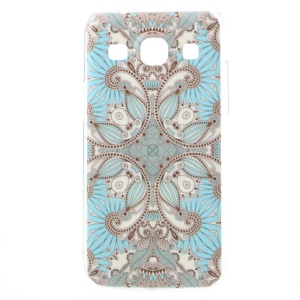 For Samsung Galaxy Core Plus G3500 / Trend 3 G3502 Slim Hard PC Case Embossed Blue Tribal Pattern