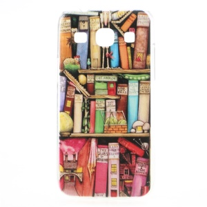 For Samsung Galaxy Core Plus G3500 / Trend 3 G3502 Slim Hard Case Embossed Bookshelf Pattern