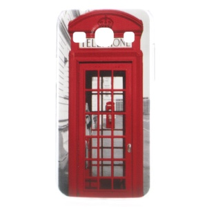 For Samsung Galaxy Core Plus G3500 / Trend 3 G3502 Protective Hard Shell Embossed Red Telephone Booth