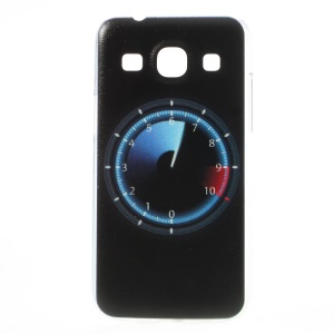 Embossed Clock Black Background Hard Case for Samsung Galaxy Core Plus G3500