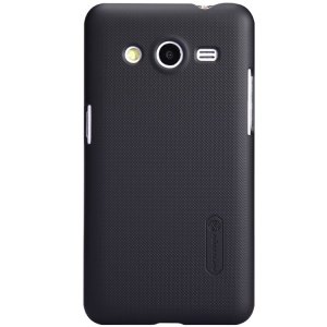Black Nillkin Super Matte Shield Hard Case for Samsung Galaxy Core 2 G355H w/ Screen Film