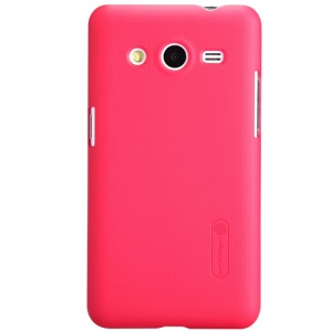 Red Nillkin Super Matte Shield Hard Case for Samsung Galaxy Core 2 G355H w/ Screen Film
