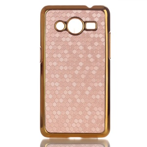 Football Grain Leather Coated PC Cover for Samsung Galaxy Core II 2 G355H - Champagne