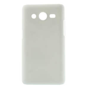 White Rubberized Hard Shell Case for Samsung Galaxy Core II 2 G355H