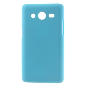 Baby Blue Rubberized Hard Plastic Cover for Samsung Galaxy Core II 2 G355H