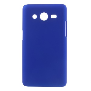 Dark Blue Rubberized Plastic Case Cover for Samsung Galaxy Core II 2 G355H