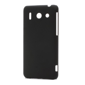Rubberized Hard Plastic Case Cover for Huawei Ascend G510 U8951D - Black