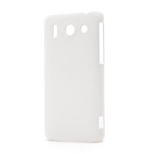 Rubberized Hard Plastic Case Cover for Huawei Ascend G510 U8951D - White