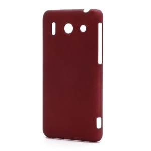 Rubberized Hard Plastic Case Cover for Huawei Ascend G510 U8951D - Red