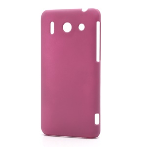 Rubberized Hard Plastic Case Cover for Huawei Ascend G510 U8951D - Rose