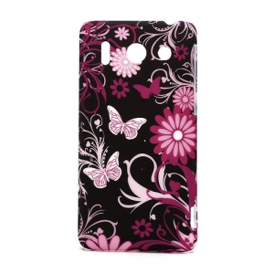 Butteryfly Flower Rubberized Hard Cover Case for Huawei Ascend G510 U8951D