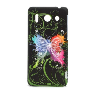Butterfly Flora Plastic Hard Case Cover for Huawei Ascend G510 U8951D