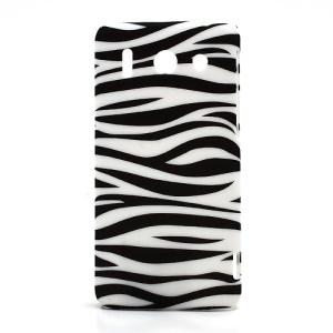 Zebra Skin Plastic Hard Protector Case for Huawei Ascend G510 U8951D