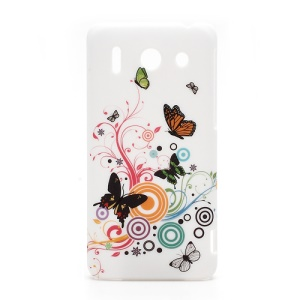 Vivid Butterfly Circle Protective Hard Cover for Huawei Ascend G510 U8951D