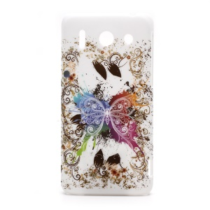 Huawei Ascend G510 U8951D Vivid Butterfly Rubberized Hard Skin Case