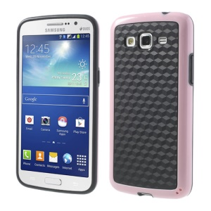 3D Cube PC & TPU Case for Samsung Galaxy Grand 2 Duos G7100 G7102 - Black / Pink