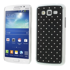 Rhinestone Starry Sky Plated Hard Cover for Samsung Galaxy Grand 2 Duos G7100 G7105 - Black