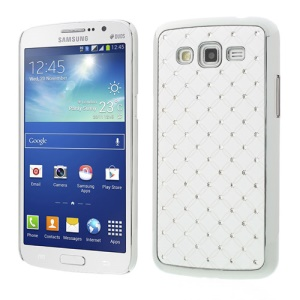 Rhinestone Starry Sky Plated Hard Case for Samsung Galaxy Grand 2 Duos G7100 G7105 - White