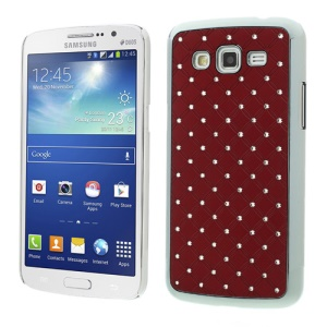 Rhinestone Starry Sky Plating PC Hard Shell for Samsung Galaxy Grand 2 Duos G7100 G7102 - Red