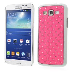 Rhinestone Starry Sky Plated Hard Back Case for Samsung Galaxy Grand 2 Duos G7102 G7105 - Pink