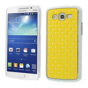 Rhinestone Starry Sky Plated Hard PC Cover for Samsung Galaxy Grand 2 Duos G7102 G710S - Yellow