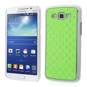 Rhinestone Starry Sky Plated Hard Shell for Samsung Galaxy Grand 2 Duos G7102 G710S - Green
